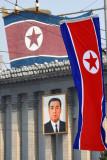 DPRK flags, Kim Il Sung Square