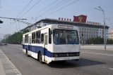 Electric trolly-bus, Sungri Street, Pyongyang