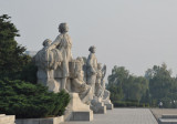 The second set of monumental statues next to Juche Tower