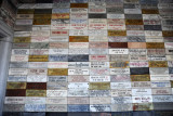 Stone plaques donated from Juche organizations around the world