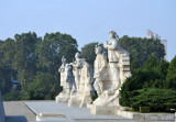 3 of the 6 monumental statues next to Juche Tower