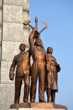 Statue at the base of Juche Tower