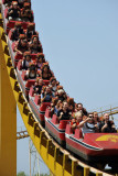 Our group on the rollercoaster, Mangyongdae Fun Fair