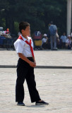 Young Pioneer in a red scarf, Pyongyang
