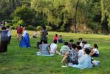 Liberation Day in Moranbong Park, Pyongyang