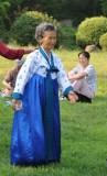 Old North Korean woman, Moranbong Park