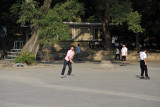 Rollerbladers in Moranbong Hill, Pyongyang