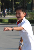 A genuine smile from a boy in Pyongyang