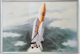 Three Revolutions Exhibition - artists rendering of a North Korean spaceshuttle