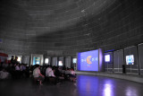 Three Revolutions Exhibition - film on the launching of North Korea's satellites