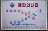 Electronic map of the two lines of the Pyongyang Metro