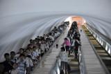 Escalators of the Pyongyang Metro
