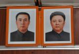 Kim Il Sung and Kim Jong Il portraits in each subway car