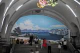 Yongwang Station mosaic - Lake Paektu