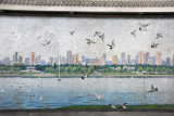 Mosaic of the east bank of the Taedong River, Pyongyang