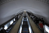 100m back to the surface, Pyongyang Metro