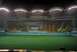 The opening scene to the mass games Arirang