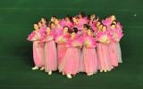 24 women forming a flower