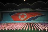 Arirang Mass Games - DPRK flag