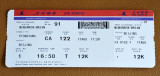 Boarding pass for CA122/17AUG FNJ-PEK