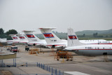 Air Koryo fleet on the ramp at Pyongyang Airport