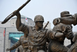 38 statues represent people from all walks of life who overcame the Korean War