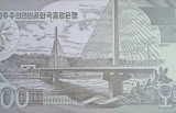 Chongnyu Bridge over the Taedong River on the back of a DPRK 500 won banknote