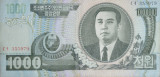 DPRK banknote with portrait of President Kim Il Sung (1000 won)