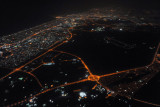 Dubai and Emirates Road at night