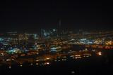 Dubai skyline and Port Rashid at night