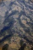 Terraced Nepal mountainside