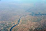 Narmada River with the Omkareshwar Dam, Madhya Pradesh, India