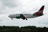 Virgin Nigeria B737 (5N-VNC) landing at Lagos