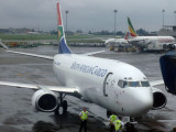 South African Airways Cargo B737-300 (ZS-SBB) at Lagos (DNMM)