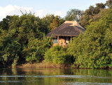 One of the chalets at Puku Pan overlooking the Kafue River