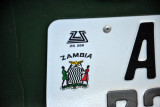 Zambian license plate