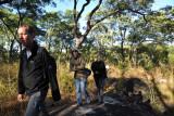 Walking safari up the koppie (Afrikaans for hill) near Puku Pan