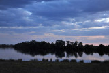 Kafue River in the evening from McBride's Camp