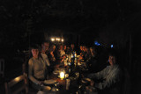 The whole group - dinner at McBride's Camp