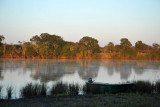 Early morning at the Kafue River, McBride's Camp