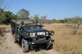 Safari vehicle from McBride's Camp