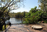 The deck of my chalet, right on the Mansha River
