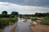 Crossing a tributary of the Luangwa River on Route D104 from Mfuwe Airport