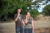 Johannes and Stephanie at the Bush Camp