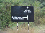Junction of road to Mfuwe Main Gate and the Chinzombo Research Station