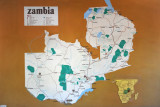 Map of Zambia at the Livingstone Museum