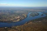 Zambezi River - Zambia on the top, Zimbabwe on the bottom