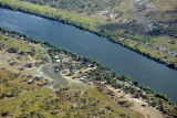 Overflying the Puku Pan Safari Lodge to announce our arrival