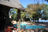 Chobe Safari Lodge pool area, Kasane