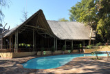 Pool and restaurant, Chobe Safari Lodge
